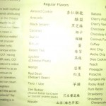Chinatown Ice Cream Factory Menu