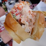 The Maine Lobster Roll Sideshot