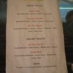 Kung Fu Tacos Menu