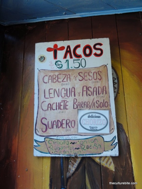 Taqueria Vallarta Menu