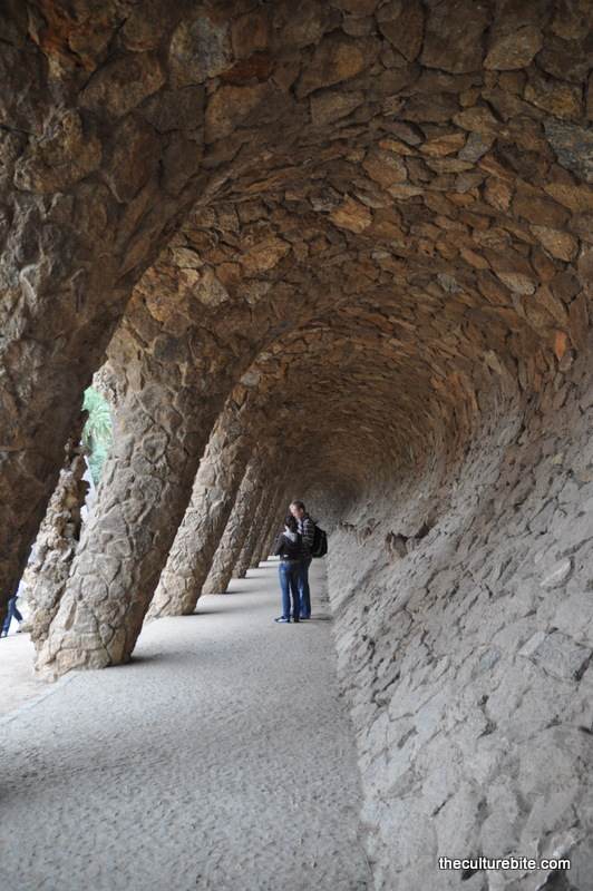Barcelona Park Guell Rock Wall