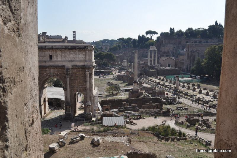 Rome Forum View From Tabularium