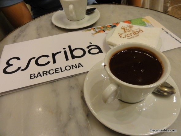 Barcelona Escriba Hot Chocolate