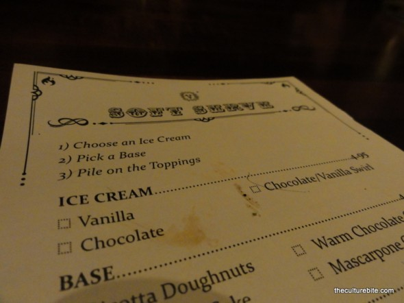 Zero Zero Soft Serve Menu