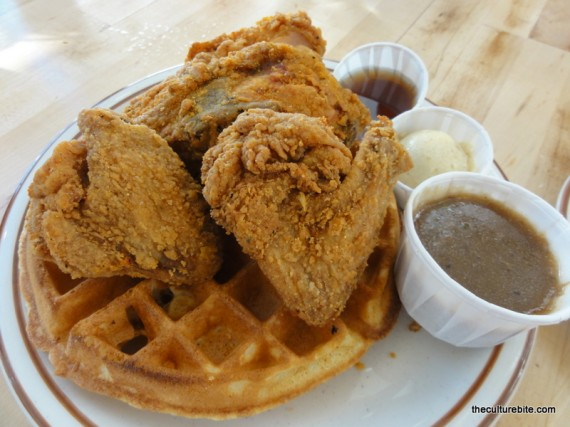 Criolla Fried Chicken Waffles