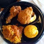 2-piece Fried Chicken, Cornbread, and a side of Jambalaya