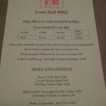 Town Hall BBQ Menu