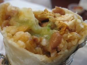 Tulios Spicy Chicken Burrito