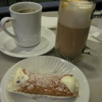 Stella Pastry Canoli and Coffee