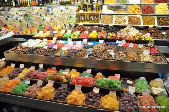 Barcelona La Boqueria Candy Stand