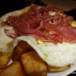 LaLoLa Iberian Ham Fried Egg Fries